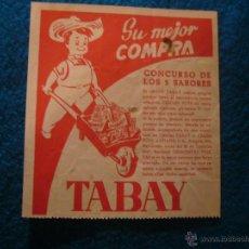 Catálogos publicitarios: PUBLICIDAD CONCURSO CHICLES TABAY (BARCELONA,1947). Lote 45886451