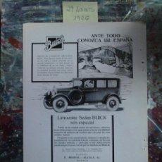 Catálogos publicitarios: .1 RECORTE PRENSA PUBLICIDAD ** LIMOUSINE SEDAN BUICK 6 ESPECIAL ** AÑO 1926 - 29 DE AGOSTO. Lote 45940503