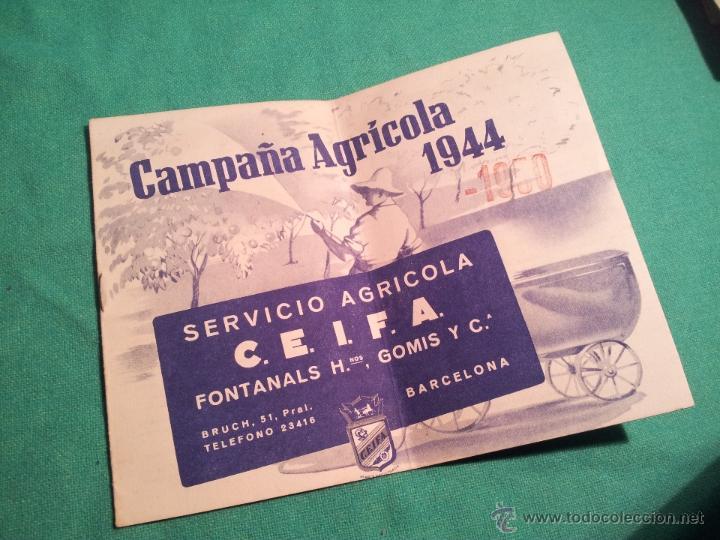 FOLLETO PUBLICITARIO CAMPAÑA AGRICOLA 1944...BARCELONA (Coleccionismo - Catálogos Publicitarios)