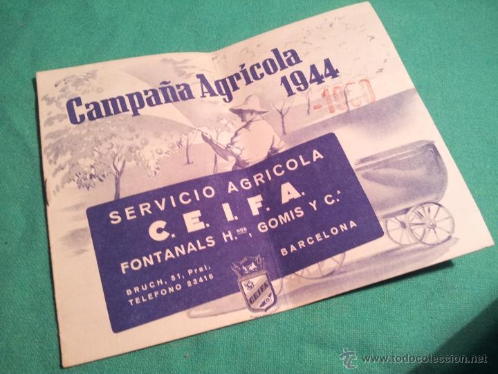 Catálogos publicitarios: folleto publicitario campaña agricola 1944...barcelona - Foto 3 - 46122992