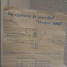 Catálogos publicitarios: PUBLICIDAD - CHICLES BAZOOKA JOE - VERANO 1969 - 27 X 21 CM. Lote 46625834