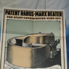Catálogos publicitarios: PATENT RABUS-MARX BEATER. LONDON. 1900.ANTIGUA. PUBLICIDAD HOLANDESAS, FABRICACIÓN PAPEL -DOCC-. Lote 46627513