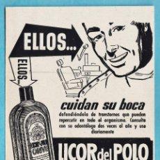 Catálogos publicitarios: ANUNCIO RECORTADO - DENTRIFICO LICOR DEL POLO / ORIVE - REV DESTINO - PUB. S/D - AÑOS 50 - MT. Lote 46872416