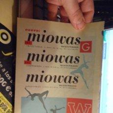 Catálogos publicitarios: PUBLICIDAD - HOJA PUBLICITARIA 1965 - FARMACIA - MIOWAS. Lote 46900464