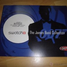 Catálogos publicitarios: COMPLICADO CATALOGO RELOJ SWATCH JAMES BOND COLLECTION 40 ANIVERSARIO 007 COLECCION 44 PAGINAS 2002. Lote 47071607
