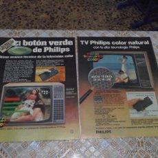 Catálogos publicitarios: TELEVISOR PHILIPS K-11 - 2 HOJAS PUBLICIDAD DE REVISTA 21X28 DE 1978. Lote 47095390