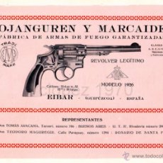 Catálogos publicitarios: PUBLICIDAD AÑOS 20,EIBAR,OJANGUREN Y MARCAIDE,REVERSO ROMEO Y RIBOT, ORIGINAL,23X17. Lote 47142085