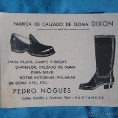 Catálogos publicitarios: ANTIGUO CATALOGO O TARJETA COMERCIAL CALZADOS DIXON SANTANDER .... VER. Lote 47269396