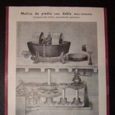 Catálogos publicitarios: MAPIP, S.L. SAN SEBASTIAN, PUBLICIDAD AÑOS 40, MOLINO DE PIEDRA CON DOBLE MOVIMIENTO -DOCD-. Lote 47351758