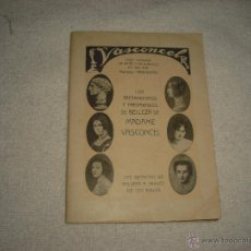 Catálogos publicitarios: VASCONCEL . TRATAMIENTOS Y PREPARADOS DE BELLEZA DE MADAME VASCONCEL.LIBRITO DE 32 PAG.. Lote 47362646
