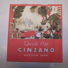 Catálogos publicitarios: FOLLETO PUBLICITARIO. CINZANO DESDE 1816. APERITIVO SANO. Lote 47373256
