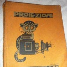 Catálogos publicitarios: PRECIOSO CATALOGO PUBLICIDAD APARATOS DE PROYECCION CINE FOTOGRAFIA DIAPOSITIVA EDISON VOLTA GANZINI. Lote 47397860