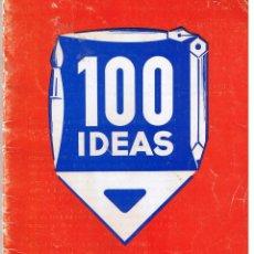 Catálogos publicitarios: CATALOGO: 100 IDEAS PARA MEMBRETES DE CARTAS Y TARJETAS COMERCIALES. RF-T/4. Lote 47567382