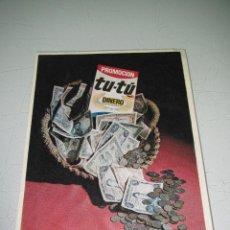 Catálogos publicitarios: ANTIGUO FOLLETO VALE DESCUENTO PUBLICIDAD DEL DETERGENTE TU-TU - AÑO 1970S.. Lote 47808283