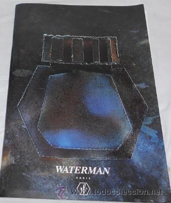 CATÁLOGO DE MATERIAL DE BOLÍGRAFOS Y PLUMAS WATERMAN, DE 1993 (Coleccionismo - Catálogos Publicitarios)