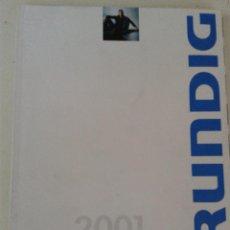Catálogos publicitarios: CATALOGO GENERAL GRUNDIG AÑO 2001. Lote 48835521