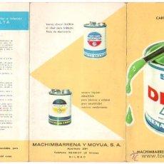 Catálogos publicitarios: CARTA DE COLORES PINTURA SUPER DELTA. MACHIMBARRENA Y MOYUA, BILBAO, AÑOS 60. Lote 48903156