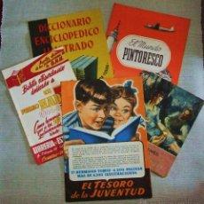 Catálogos publicitarios: LOTE DE 5 ANTIGUOS CATALOGOS DE LIBROS . Lote 48939368