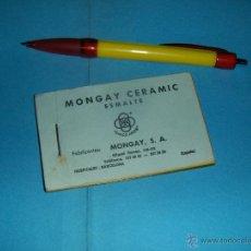Catálogos publicitarios: MONGAY CERAMIC ESMALTE CINCO AROS, CATALOGO. HOSPITALET BARCELONA.. Lote 49099975