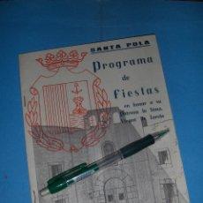 Catálogos publicitarios: SANTA POLA, ALICANTE. FIESTAS EN HONOR DE LA VIRGEN DE LORETO 1966.. Lote 49105456