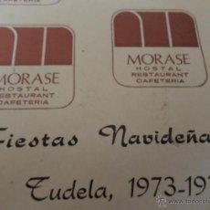 Catálogos publicitarios: HOTEL MORASE TUDELA. Lote 49183886