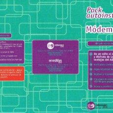 Catálogos publicitarios: HOJA PUBLICIDAD MÓDEM ADSL ERESMAS RETEVISIÓN AUNA. Lote 49431944