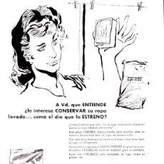 Catálogos publicitarios: HOJA PUBLICITARIA JABON CHIMBO. BILBAO. AÑOS 60. Lote 49652554