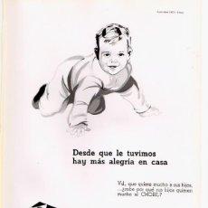 Catálogos publicitarios: HOJA PUBLICITARIA CHOCOLATE CHOBIL. BILBAO. AÑOS 60. Lote 49652666