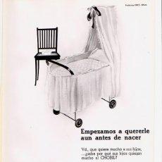 Catálogos publicitarios: HOJA PUBLICITARIA CHOCOLATE CHOBIL. BILBAO. AÑOS 60. Lote 49652704