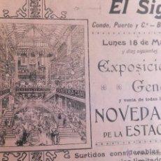 Catálogos publicitarios: DIETARIO ALMACENES EL SIGLO BARCELONA 1907 CON PUBLICIDAD COMIC COCINA PLANO TEATRO. Lote 49857051