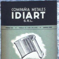 Catálogos publicitarios: CATÁLOGO IDIART AÑO 1957. Lote 49901285