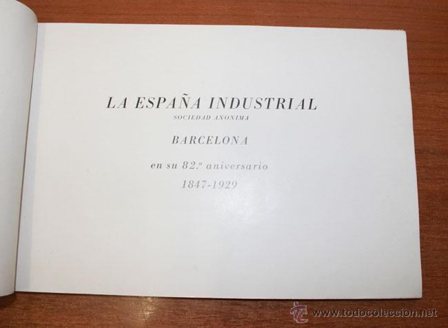 Catálogos publicitarios: LA ESPAÑA INDUSTRIAL SOCIEDAD ANONIMA. BARCELONA. EN SU 82 ANIVERSARIO 1847-1929. - Foto 2 - 49937022
