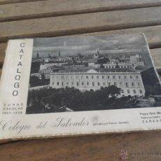 Catálogos publicitarios: CATALOGO COLEGIO DEL SALVADOR PADRES JESUITAS ZARAGOZA FOTOS DE LOS ESTUDIANTES CURSO 1957 1958. Lote 50021214
