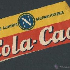 Catálogos publicitarios: GORRO PUBLICIDAD COLACAO AÑOS 50 - 60 COLA CAO. Lote 50143137