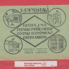 Catálogos publicitarios - PUBLICIDAD S.A.M. MAS BAGÁ-ESTUFAS-PRENSAS COPIAR CARTAS-COCINAS-PUERTAS BALLESTA-1930 PB16 - 50333416