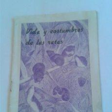 Cataloghi pubblicitari: FOLLETO VIDA Y COSTUMBRES DE LAS RATAS PRODUCTOS NOGAT MATA RATAS NIDO DE MUS SYLVAFICUS. Lote 50620952