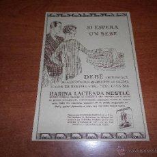 Catálogos publicitarios: PUBLICIDAD 1931: HARINA LACTEADA NESTLÉ. Lote 50666123