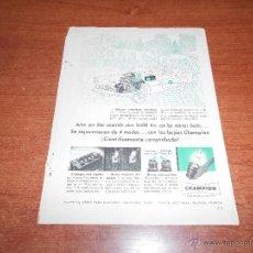Catálogos publicitarios: PUBLICIDAD 1951: BUJÍAS CHAMPION. Lote 50693448