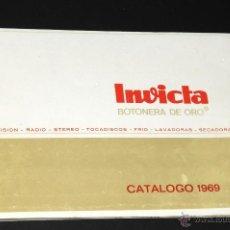 Catálogos publicitarios: CATALOGO BOTONERIA DE ORO INVICTA AÑO 1969. Lote 50699939