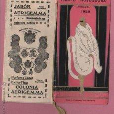Catálogos publicitarios: SUPER CATALACO DEL TEATRO NOVEDADES CARNAVAL 1929 CONRADO MARTI BARCELONA PUBLICIDA DE CAVA I OTROS. Lote 50738562