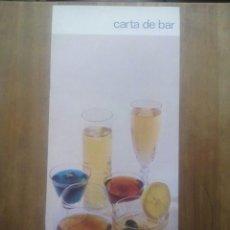 Catálogos publicitarios: HOTEL NEVADA PALACE / GRANADA / CARTA DE BAR / HOTELES MELIÀ. Lote 50748010