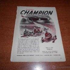 Catálogos publicitarios: PUBLICIDAD 1948: BUJIAS CHAMPION. Lote 50925145
