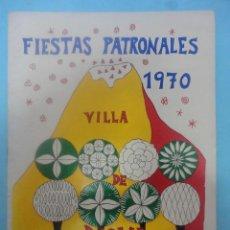 Catálogos publicitarios: FIESTAS PATRONALES. VILLA DE MOYA. 1970. Lote 50967440