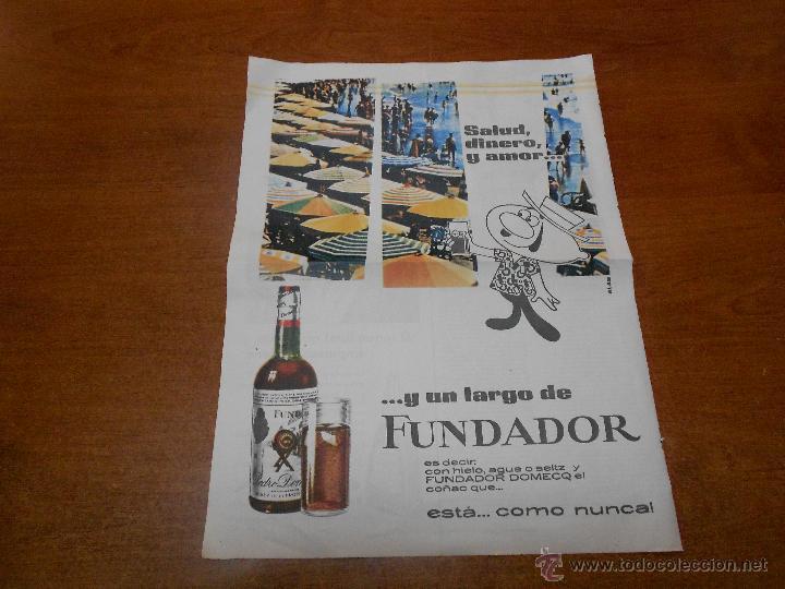 PUBLICIDAD 1962: FUNDADOR (Coleccionismo - Catálogos Publicitarios)