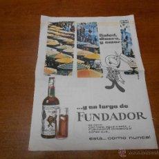Catálogos publicitarios: PUBLICIDAD 1962: FUNDADOR. Lote 51043764