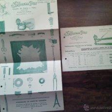 Catálogos publicitarios: CATÁLOGO DE PRODUCTOS Y CARTA COMERCIAL DE S. MORERA PLA. BARCELONA.. Lote 51051369