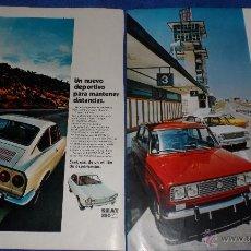 Catálogos publicitarios: SEAT 124 - SEAT 850 - RECORTE PUBLICITARIO. Lote 51096250