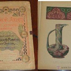 Catálogos publicitarios: CATALOGO DE ART DECORATIF MODERNE, COCUMENTS D´ATELIER, DIRECTION DE VICTOR CHAMPIER, 1898, LIBRAIRI. Lote 51120045