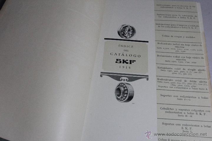 Catálogos publicitarios: skf, catálogo 1918, rodamientos a bolas, 138 paginas, impecable -doce- - Foto 5 - 51438611