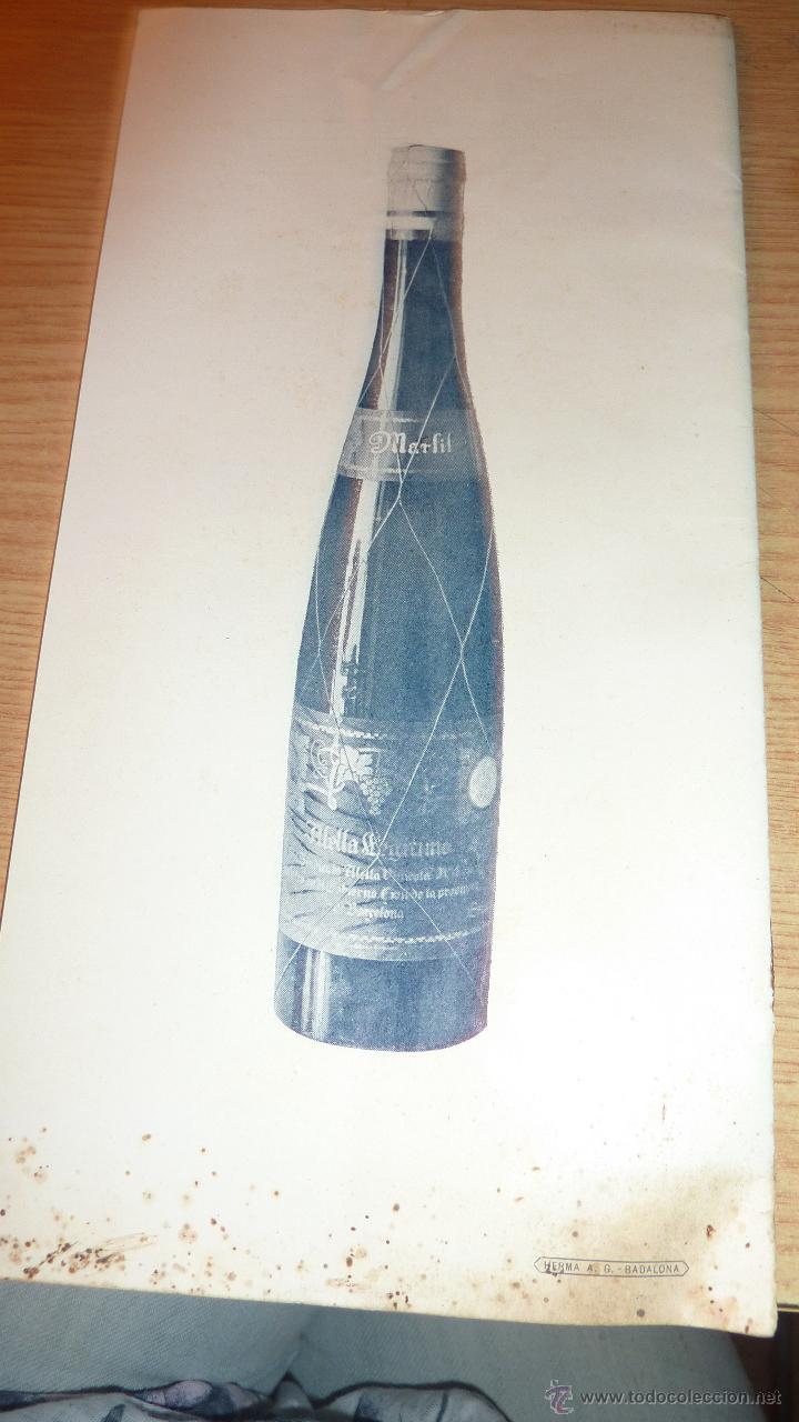 Catálogos publicitarios: lote 2 antiguo catalogo publicitario alella vinicola . sindicato agricola vino alella marfil - Foto 4 - 56217559